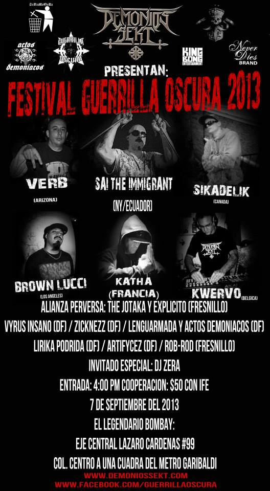 Festival Guerrilla Oscura Poster